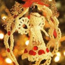 Y590 Crochet PATTERN ONLY Sweet Angel in Lace Wreath Christmas Ornament Pattern