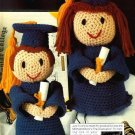 Y762 Crochet PATTERN ONLY Boy and Girl Graduates Doll Patterns Graduation
