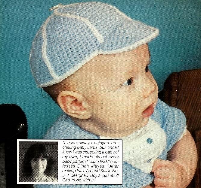 Y763 Crochet PATTERN ONLY Baby Boy's Baseball Cap Hat Pattern