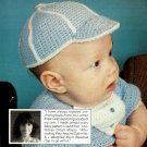 Y763 Crochet PATTERN ONLY Baby Boy's Baseball Cap Hat Pattern