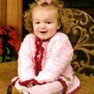 Y771 Crochet PATTERN ONLY Santa's Little Girl Floral Cardigan Sweater Pattern