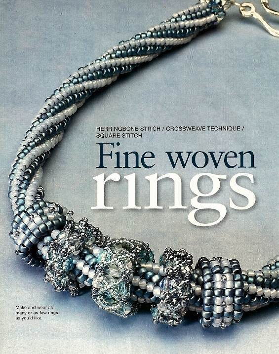 Y801 Bead PATTERN ONLY Fine Woven Rings Beaded Beads Necklace Pattern