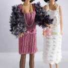 Y832 Crochet PATTERN ONLY 1920's Flapper Fashion Doll Period Ensemble Gowns