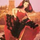 X054 Crochet PATTERN ONLY Fashion Doll Flamenco Dancer Dress Pattern Barbie