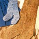 W201 Crochet PATTERN ONLY Cuffet Knee Socks Pattern in 6 Sizes