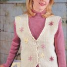 W194 Crochet PATTERN ONLY Ladies Lazy Daisy Vest Pattern