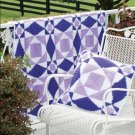 W164 Crochet PATTERN ONLY Violet Dreams Quilt Afghan and Pillow Pattern