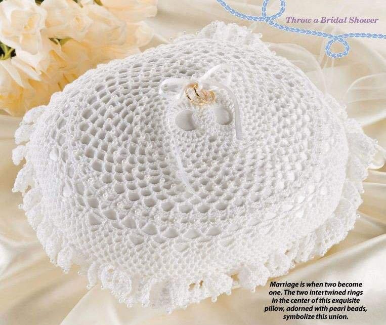 W039 Crochet Pattern Only Double Wedding Ring Bearer