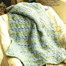 X719 Crochet PATTERN ONLY Squiggles Baby Blanket Pattern