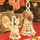 Y149 Crochet PATTERN ONLY 2 Frilly Bell Christmas Ornaments Wedding