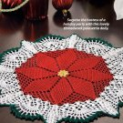 X293 Crochet PATTERN ONLY Poinsettia Doily Pattern & Bonus