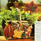 X165 Plastic Canvas PATTERN ONLY 4 Harvest Leaf & Squash Motifs Ornaments