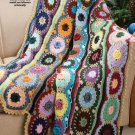 Y005 Crochet PATTERN ONLY Waves of Color Scrap Afghan