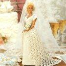 Y078 Crochet PATTERN ONLY Bridal Beauty Fashion Doll Wedding Gown Barbie