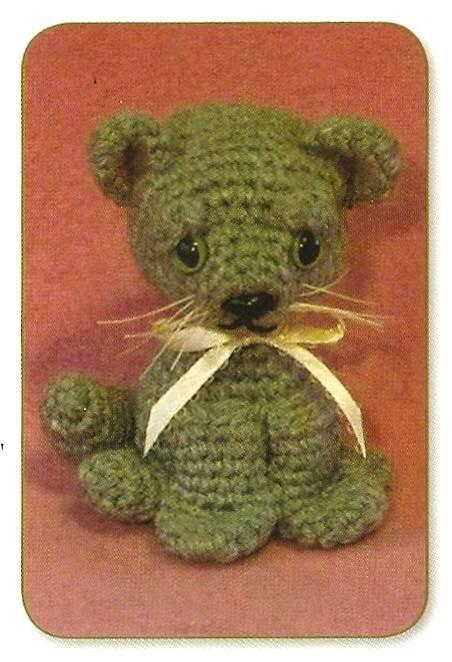 Y301 Crochet PATTERN ONLY Baby Kitty Kitten Cat Toy Pattern