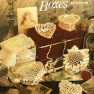 X057 Crochet PATTERN ONLY Sweetheart Boxes to Crochet 6 Heart Shaped Motif Box
