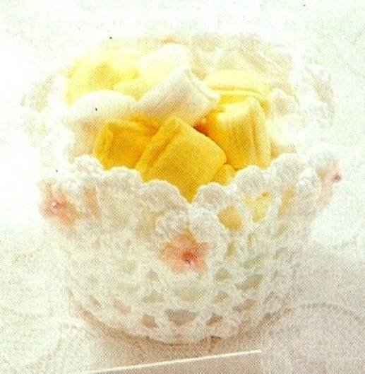 Y617 Crochet PATTERN ONLY Wedding Accessories Nut Cup Bells Patterns