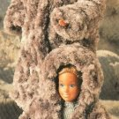 X951 Crochet PATTERN ONLY Fashion Doll Fur Coat Hat, Hooded Jacket Barbie