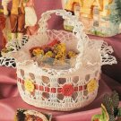 X978 Crochet PATTERN ONLY Potpourri Basket Easter Flower Wedding