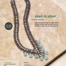 W107 Bead PATTERN ONLY Beaded Sleek in Silver Necklace Pattern