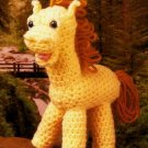 Y964 Crochet PATTERN ONLY Palomino Horse Baby Toy Pattern