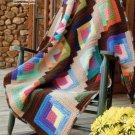 Y006 Crochet PATTERN ONLY Log Cabin Scrapghan Afghan