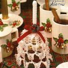 Y414 Crochet PATTERN ONLY Elegant Frilly Handle Bell Ornament Pattern