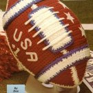 Y154 Crochet PATTERN ONLY Football Pillow Pattern