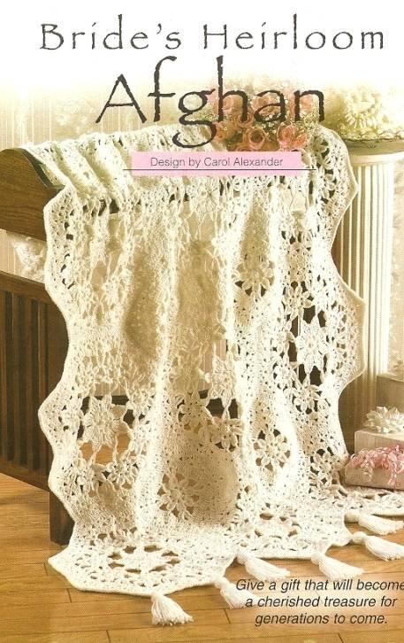 Y085 Crochet PATTERN ONLY Bride's Heirloom Afghan Wedding Bridal Shower