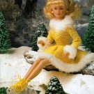 Y009 Crochet PATTERN ONLY Fashion Doll Barbie Ice Skating Outfit