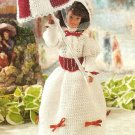 X920 Crochet PATTERN ONLY Mary Poppins Style Fashion Doll Barbie Dress Umbrella