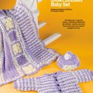 X808 Crochet PATTERN ONLY Tapestry Laptop Bag/Offset Bobbles Baby Set