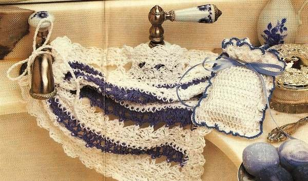 X729 Crochet PATTERN ONLY Lacy Washcloth & Potpourri Bag