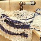 X729 Crochet PATTERN ONLY Lacy Washcloth & Potpourri Bag