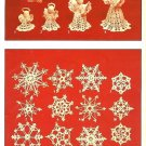X145 Crochet PATTERN ONLY Crocheted Snowflakes & Angels Christmas Ornaments