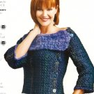 X174 Crochet PATTERN ONLY Eclectic Electric Sweater & Cowl Neck Sweater Pattern
