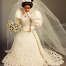 X185 Crochet PATTERN ONLY 1994 Bride Doll Gown Calendar Bed Doll Pattern