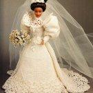 X185 Crochet PATTERN ONLY 1994 Bride Doll Gown Calendar Bed Doll Pattern