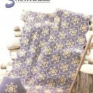 X223 Crochet PATTERN ONLY Snowflake Afghan & Pillow Pattern