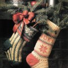 X325 Knit PATTERN ONLY Spruce and Noel Christmas Stockings Patterns