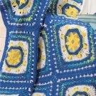W372 Crochet PATTERN ONLY Sun & Moon Afghan Pattern Granny Style