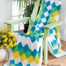 W376 Crochet PATTERN ONLY Patchwork Quilt Afghan Throw Pattern