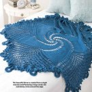 W378 Crochet PATTERN ONLY Blue Mandala Throw - Swirled Star Motif Pattern