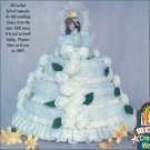 W203 Crochet PATTERN ONLY 3 Tier Wedding or Anniversary Cake Pattern