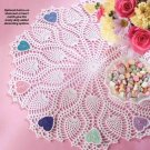 W280 Crochet PATTERN ONLY Pineapple Plus Hearts or Shamrock Doily Pattern