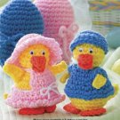 W207 Crochet PATTERN ONLY Boy and Girl Little Duck Easter Eggs Pattern