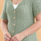 W205 Crochet PATTERN ONLY Lacy Little Cardigan Short Sleeve Sweater Pattern