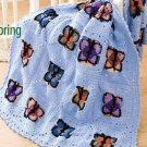 W208 Crochet PATTERN ONLY Butterflies of Spring Afghan Pattern Butterfly