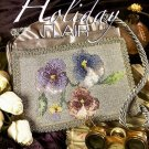 W212 Cross Stitch PATTERN ONLY Beaded Pansy Chart Pattern to Embellish a Purse