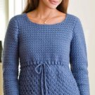 W220 Crochet PATTERN ONLY Ladies Feminine Denim Pullover Sweater Pattern